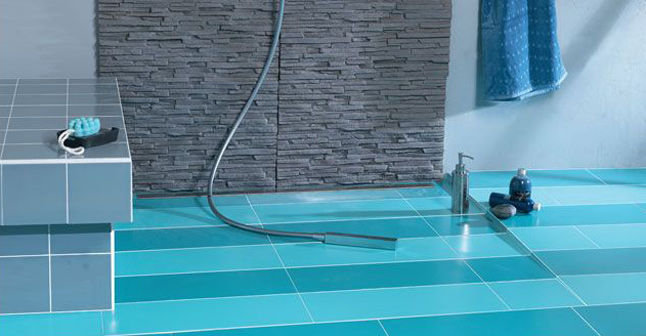 L avantage d une douche l italienne douche italienne informations et de - Douche italienne bleue ...